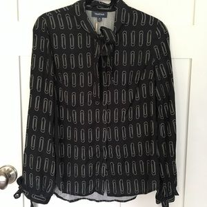 NWT Modcloth Perfect Professionalism black blouse